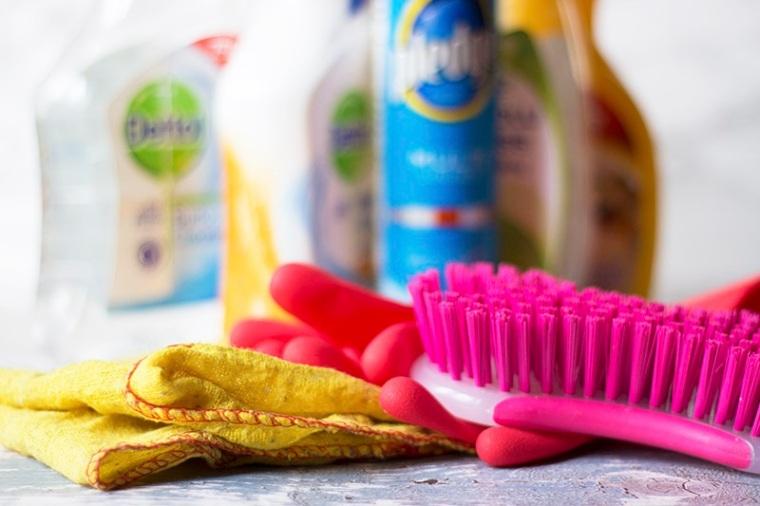 digital detox Debbie's arsenal of cleaning materials